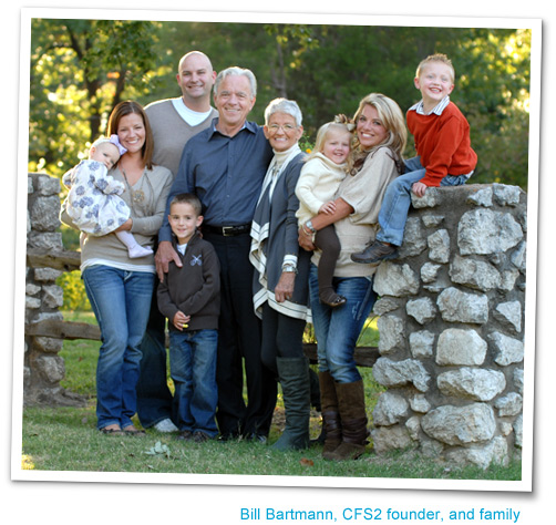 Bill Bartmann, CFS2 founder, and family